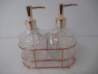 Circleware Vintage Hobnail Dispenser Bottle Pumps