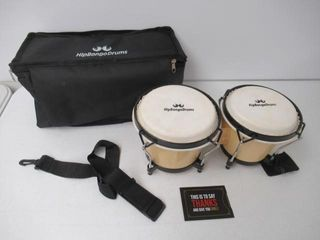 Used  Bongo Drum Set for Adults Kids Beginners