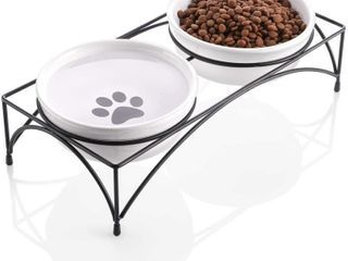 Y YHY Ceramic Pet Cat Bowl  Shallow and Wide Food