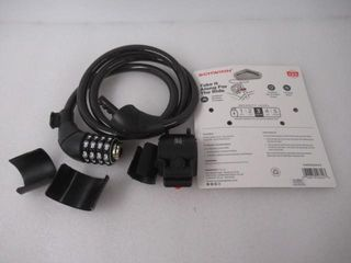 As Is  Schwinn Cable Bike lock  Combination lock