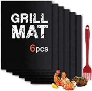 BBQ Grill Mat Set of  6 1    Non Stick Oven liner