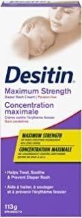 Desitin Diaper Rash Cream for Baby  Zinc Oxide