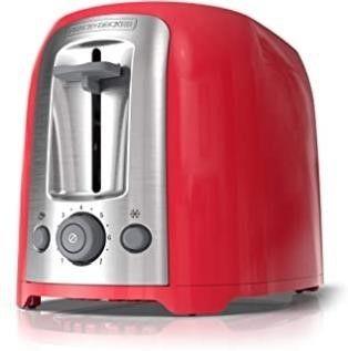 BlACK   DECKER 2 Slice Extra Wide Toaster Red