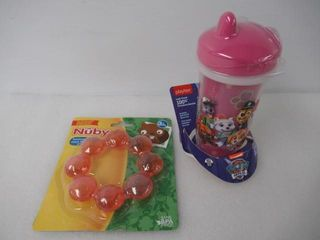 lot of  2  Baby Items   1  Nuby Soothing Teether
