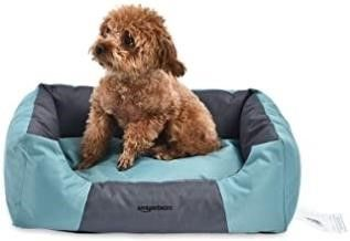Used  AmazonBasics Water Resistant Pet Bed