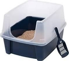 IRIS Open Top Cat litter Box Kit with Shield and
