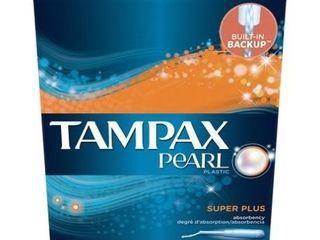 Tampax Pearl Super Plus Absorbency Plastic