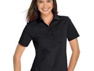 Hanes Women s 2Xl Pique Polo  Black