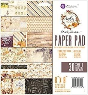 Prima Marketing Amber Moon 8X8 Paper Pad