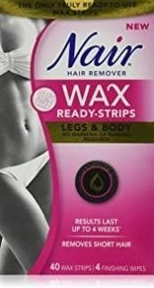 Nair Wax Ready Strips for legs   Body with Rice