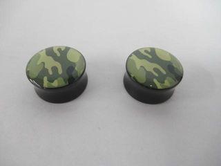 3 4  Acrylic Camo Plugs