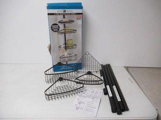 Used  iDesign York Metal Wire Tension Rod Corner