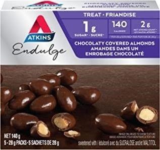 2  Atkins Endulge Treats   Chocolaty Covered