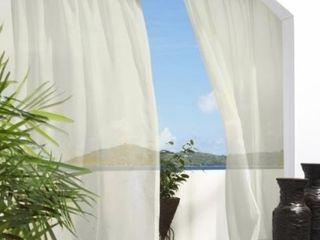 Outdoor Decor 84 in White Outdoor Sheer Single