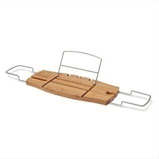 Umbra Aquala Bathtub Tray Extendable  Bamboo