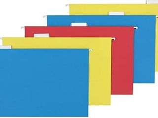 Hanging Folders  legal Size  Assorted  Blue  Red