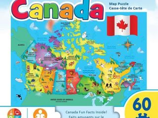 Masterpieces Canada Map Jigsaw Puzzle  60 Piece