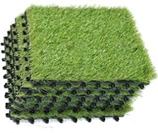 EcoMatrix Artificial Grass Tiles Interlocking Fake