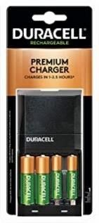 Duracell   Ion Speed 4000 Battery Charger with 2