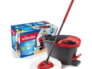 Vileda EasyWring Microfibre Spin Mop   Bucket