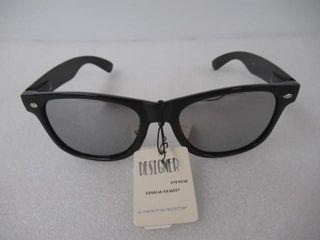 Designer Sunglasses Unisex Black Mirror lenses