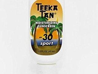 3  Teeka Tan SPF 30 Sport Sunscreen