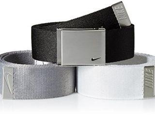 Nike Men s One Size Standard 3 Pack Golf Web Belt