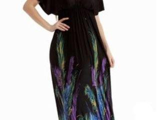 MOREFEEl Women s Xl V Neck Maxi Floral Dress NWT