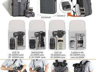 Besnfoto Camera Backpack Rolltop laptop