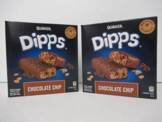 2  Quaker Dipps Chocolate Chip 156g 5 Pk
