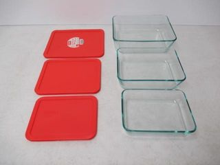 As Is  pyrex Simply Store Glass Rectangular Food