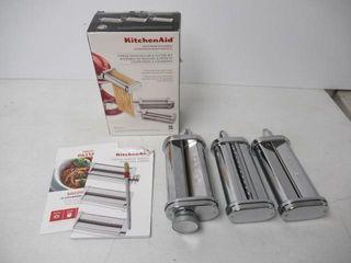 Used  Kitchenaid KSMPRA 3 Piece Pasta Roller