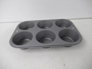 As Is  OvenStuff 6 Cup Texas Muffin Pan