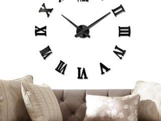Vangold large DIY Frameless Wall Clock Modern Mute