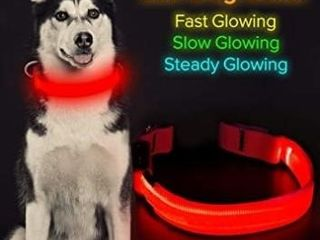 BSeen lED Dog Collar  USB Rechargeable light Up