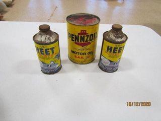 Pennzoil Motor Oil full qrt  Heat gas line