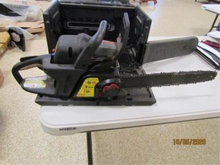 Craftsman 18IJ chainsaw with case  turns over