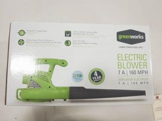 Green Works electric blower 160MPH mod 24012