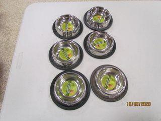 6  Non Skid pet food bowls  6 08oz