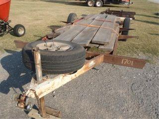 Flat bed trailer  shop built