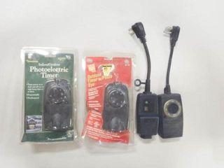 4  Indoor Outdoor Photoelectric Timers
