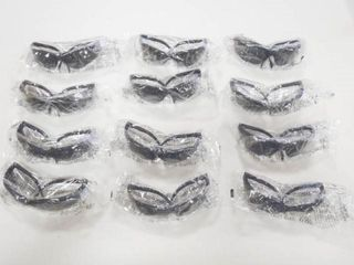 12  Tinted Safety Glasses  Unopened