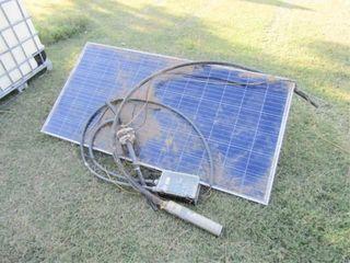 Solar Panel and Pump