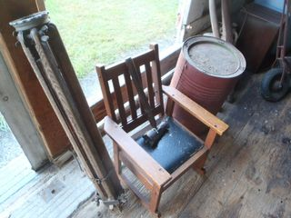ANTIQUES-PRIMITIVES-HEYFIELD WAKEFIED WICKER-TIME CLOCK-APOTHOCARY SCALES- DWARF GRNADFATHERS CLOCK