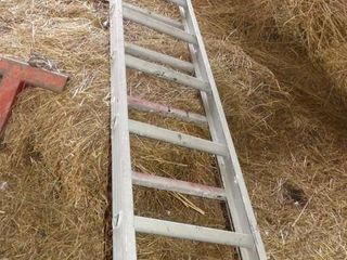 2 Aluminum Sections of ladder  9 and 13ft