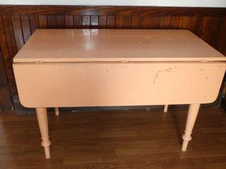 Old Painted Drop leaf Table