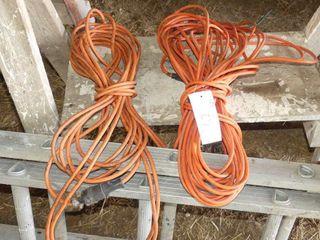 2 Orange Extension Cords