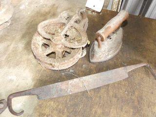 Steel Pulley  Iron  Drawknife