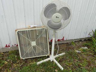 Box Fan and Floor Fan