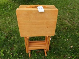 Set of Wooden TV Tables